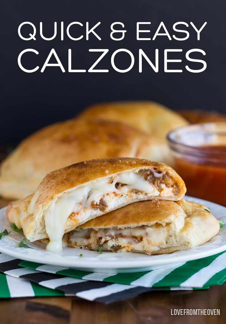 Quick and easy calzones, a perfect game day recipe!
