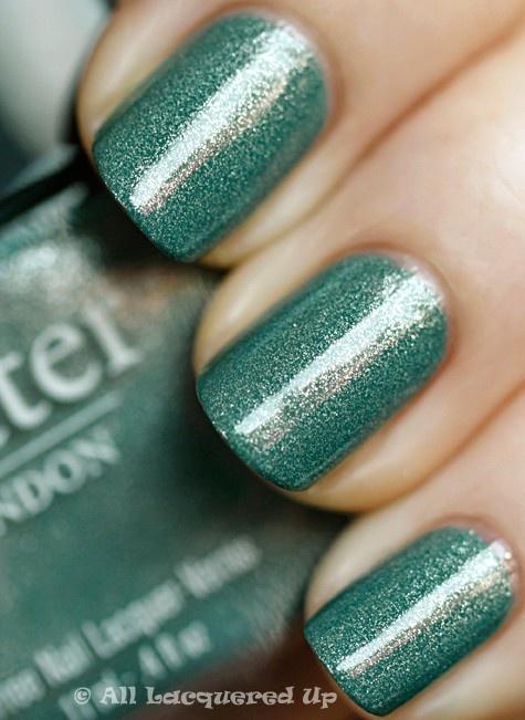 pretty.Bridesmaid Hair, Nails Colors, Mint Nails, Butter London, Blue Green, Nails Polish, London Victoriana, Green Nails, Nail Art