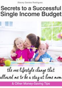 Secrets to a Successful Single Income Budget spills ALL the secrets of how I was able to become a stay at home mom PLUS a REAL meal plan & 21 NEW recipes!