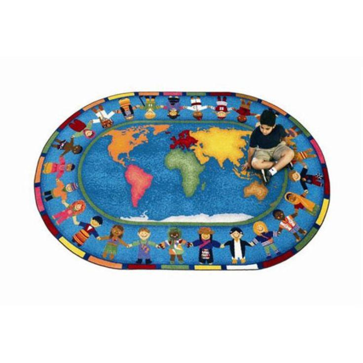 Amazing Joy Carpets Hands Around The World Kids Area Rug   1488