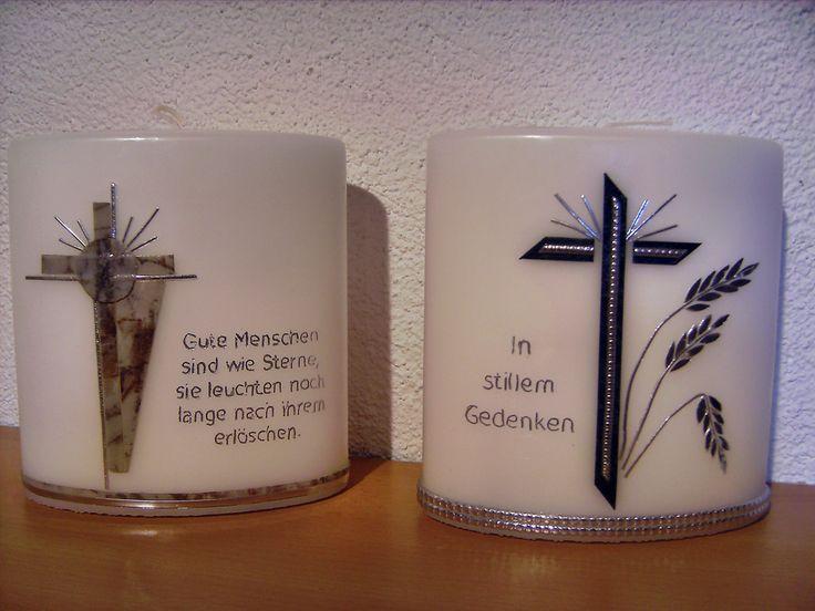 Kerzen-Design Bärbl: Trauer