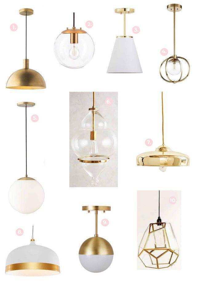 Gold Brass Light Fixture Shopping Guide A Beautiful Mess Brass Light Fixture Brass Pendant Lights Kitchen Brass Lighting