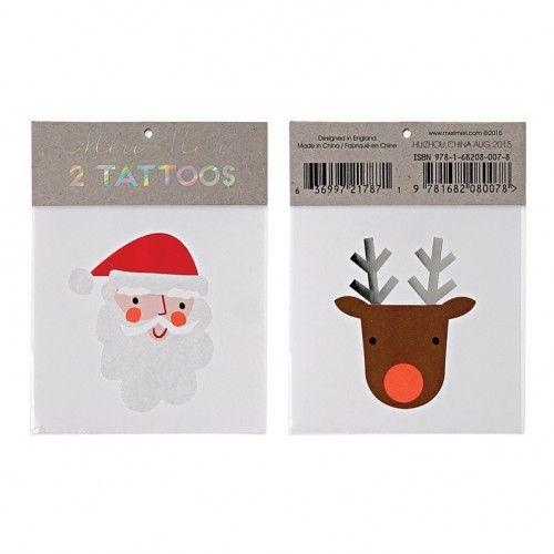 Meri Meri Santa and Reindeer Tattoos