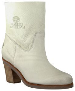 Witte Shabbies korte laarzen Omoda Schoenen