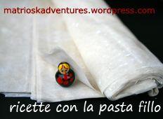 raccolta ricette con la pasta fillo