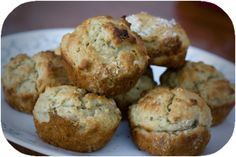 Baby Banana Oatmeal Muffins    1 1/3 Cups Flour  3/4 Cup Baby Oatmeal*  1/3 Cup Sugar  2 tsp Baking Powder  1/4 tsp salt  1 Beaten Egg*  1/2 Cup Milk*  2 - 4 oz jars baby food- bananas*  1/4 cup cooking oil  -------------------------  Mix dry ingredients and wet ingredients separately. Combine together, mixing just until wet. Bake at 400 degrees for 20 minutes. Makes 12.