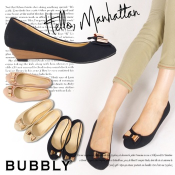 Rakuten: Wedge low heel metal ribbon pumps BUBBLY( vav Lee) - Shopping Japanese products from Japan