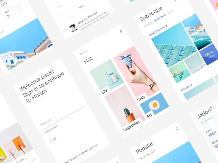 Horizn app by Jadon7 #Design Popular #Dribbble #shots