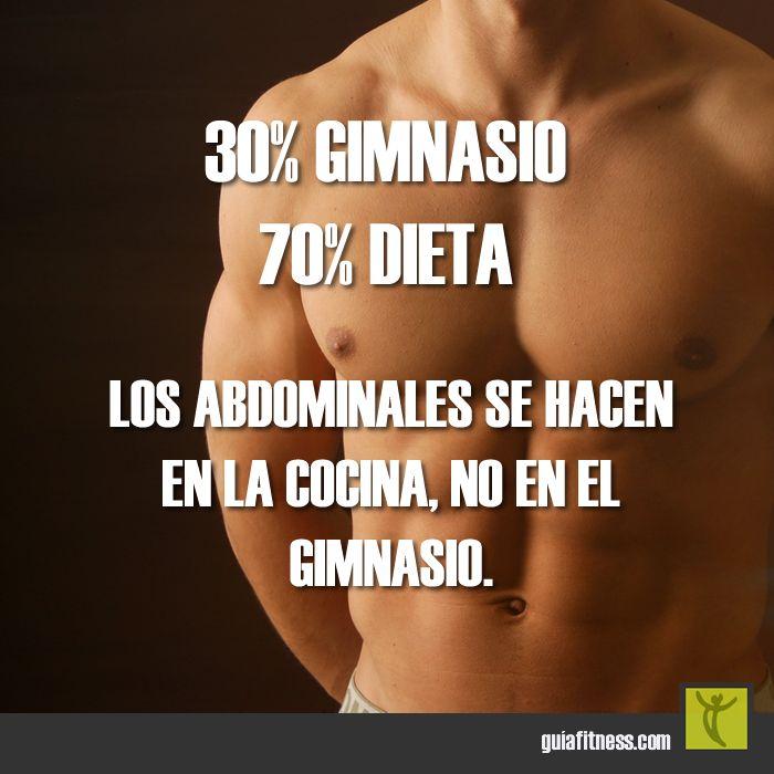 Porque la alimentación sana importa más que el entrenamiento #diet #alimentacion #motivacion #frases #fitness #motivation #quotes #guiafitness #