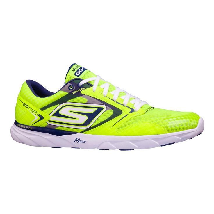 Be the speed queen you were born to be, while snagging stability and natural gait enhancement with the womens Skechers GO Speed Runner, the signature shoe of Olympic long distance runner Meb Keflezighi