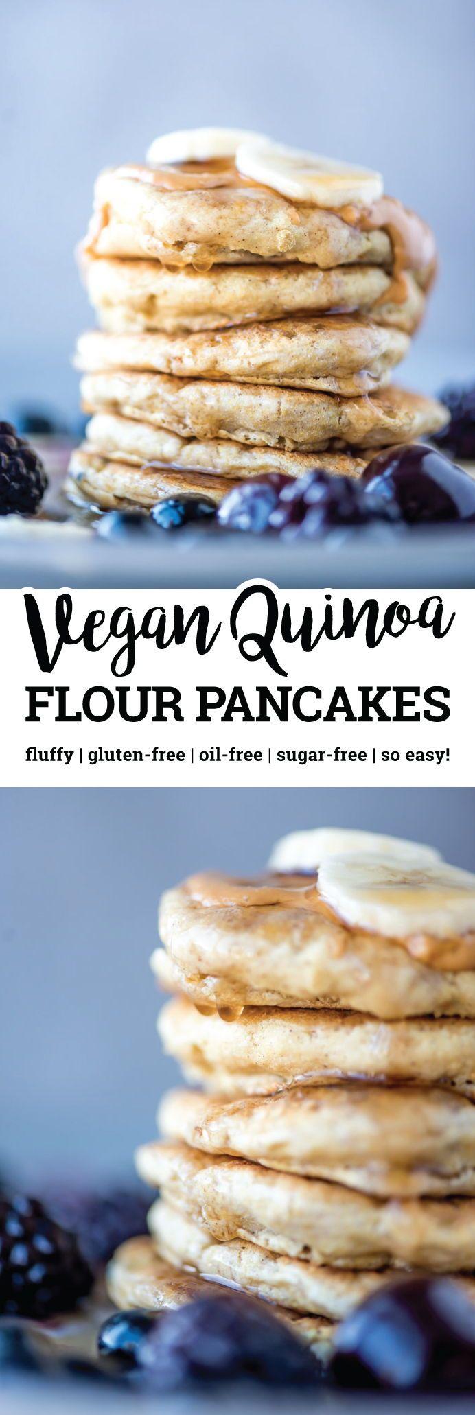 Vegan Quinoa Flour Pancakes Gluten Free Oil Free Recipe Quinoa Flour Pancakes Vegan Quinoa Food
