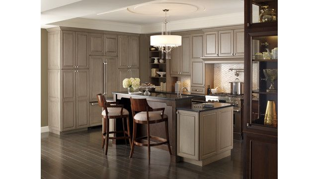 Omega Cabinetry S New Finish Pumice Is A New Spatter Gray In A Semi Translucent Finish That