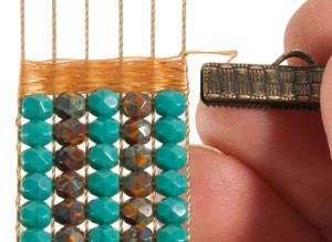 Weave thread at end of beading for finishing.  It takes time but creates a more professional finish.