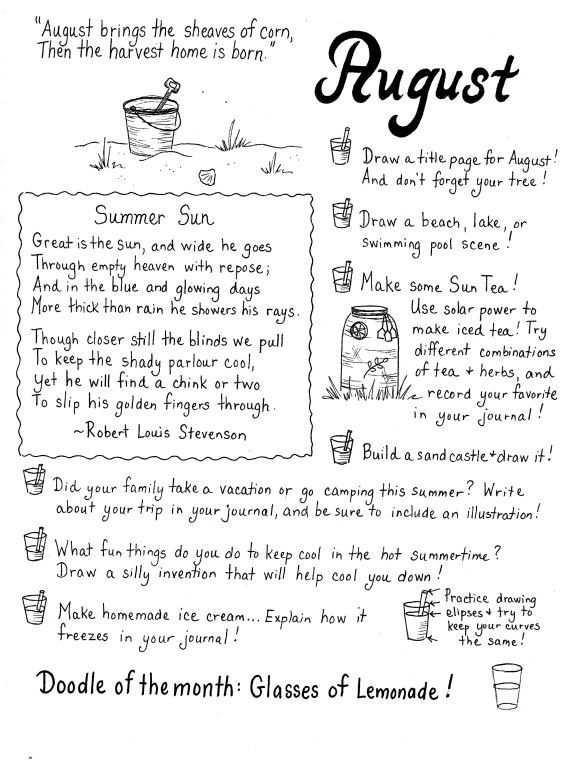 Art Journaling Ideas! Monthly prompts...writing, journaling, drawing, poetry...from thistledewblog.com