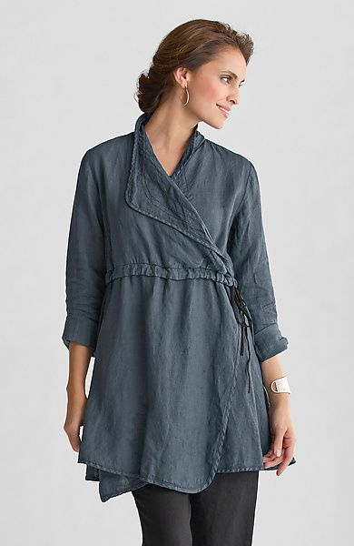 """Lancaster Tunic"" Linen Tunic by Cynthia Ashby on Artful Home"