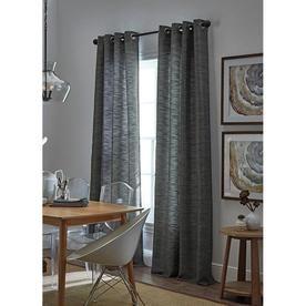 Allen Roth Bendhal 63 In Gray Polyester Grommet Light Filtering