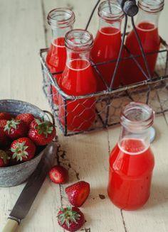 Limonade aux fraises, oranges érable, sans gluten, sans lactose, repas cru, végétarien, menu santé