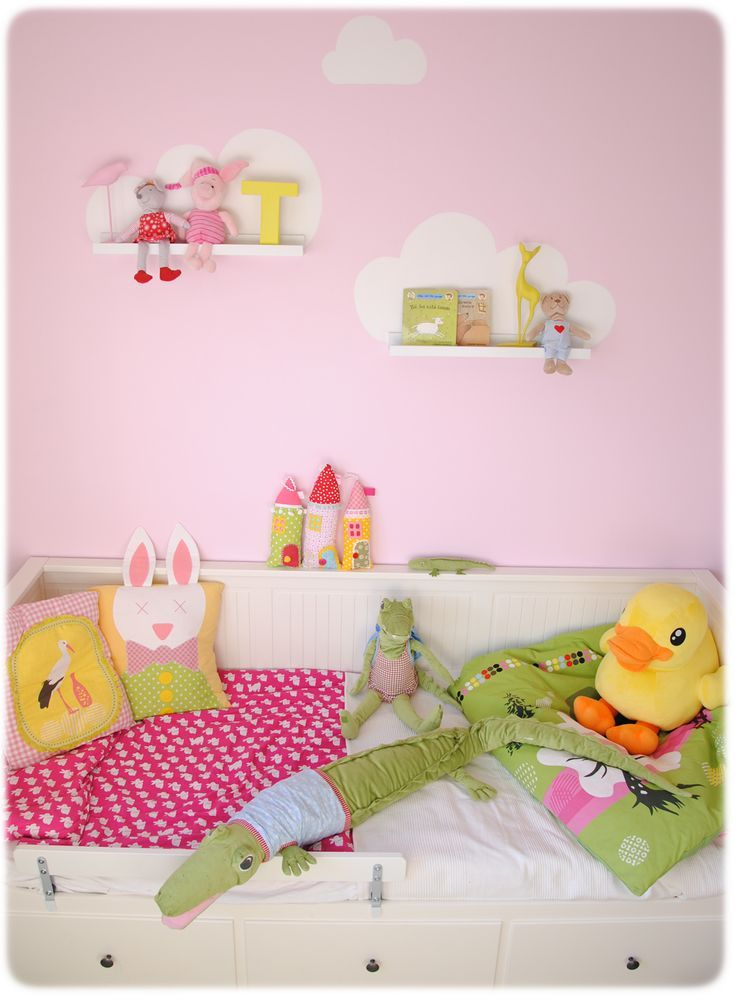 mommo design: IKEA HACKS - Just paint a cloud and place a white RIBBA picture ledge on the bottom.
