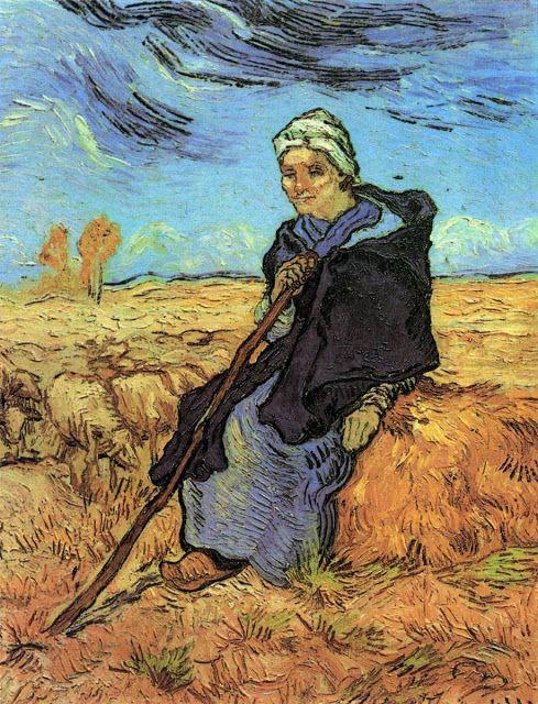 Βοσκοπούλα - 1889 (από έργο του Ζαν Φρανσουά Μιλέ)