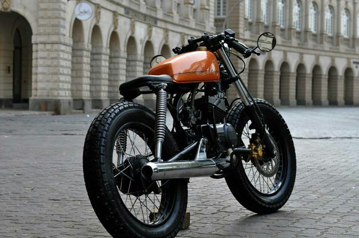 Yamaha Rx100 Modified To Cafe Racer Google Search
