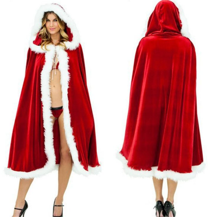 2017 New high quality Fashion Hot sexy Christmas Little Red Riding Hood Hat Cloak Coat Send Women Party Cloak #Affiliate
