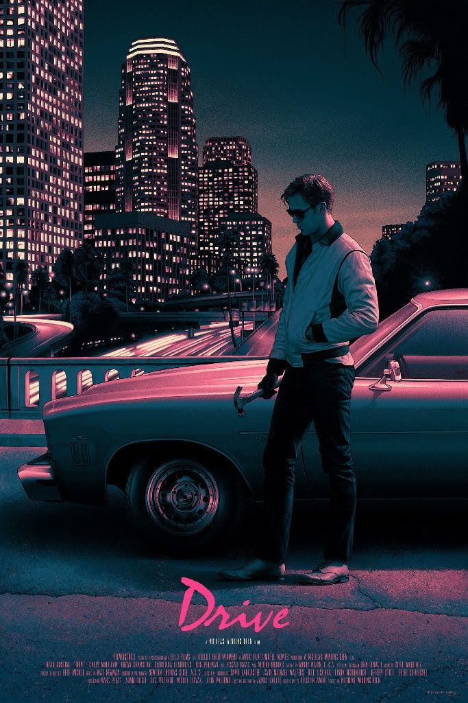 Drive and The Aviator movie posters from Mondo