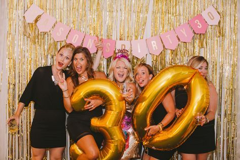 30th birthday party photo booth | dirty thirty birthday party | lifestyle blog…