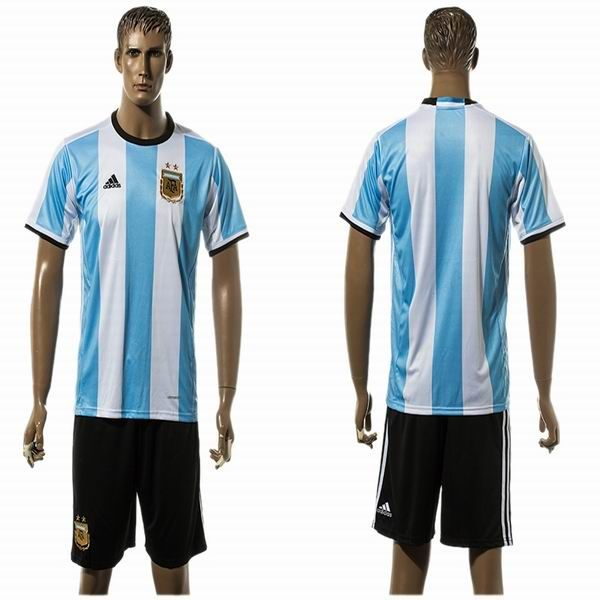 2016 Argentina team white skyblue soccer uniforms home