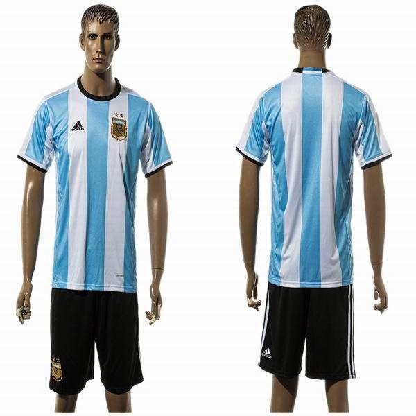 2016 Argentina team white skyblue soccer uniforms home