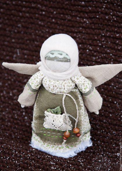 Народная кукла оберег Ангел хранитель с мятой в кармашке, оберег для дома, оберег для семьи, оберег на счастье, куклы обереги,…