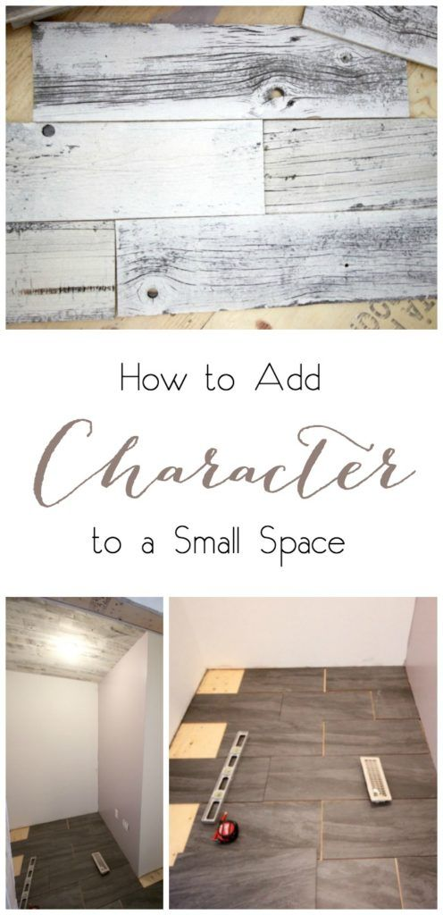 Great ideas for adding character to a small space like a closet, powder room, or foyer.