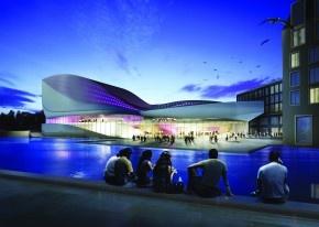 Futuristisch theater van UNStudio