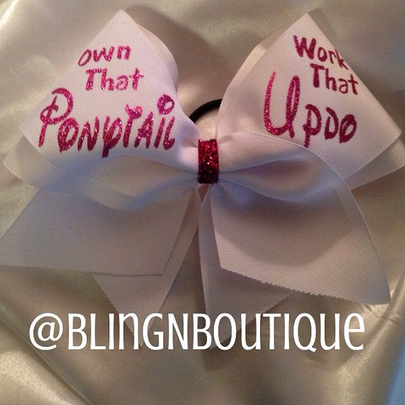 Updo Cheer Bow - Customize
