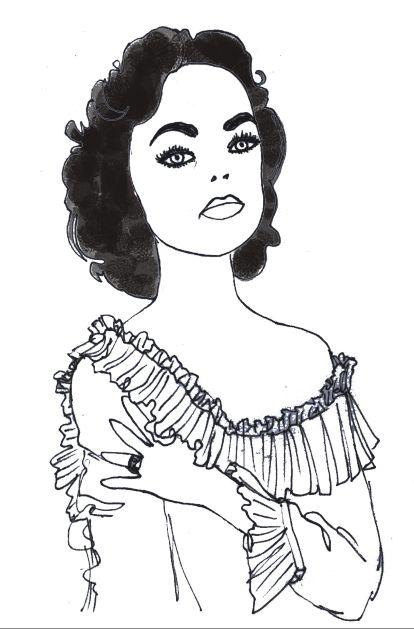 'Elizabeth' illustration by Giulia Benaglia