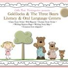 My Goldilocks and the Three Bears Oral Language and Literacy Centers will be a perfect addition to your oral language instruction.Common Core Stan...