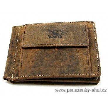 Dolarovka - stylová peněženka pánská vyrobená z masivní kůže.