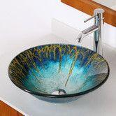 Enchantment Glass Circular Vessel Bathroom Sink