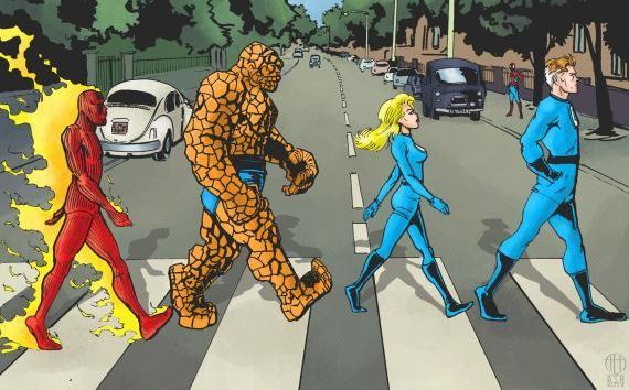 Recreado a los Beatles y Abbey Road con los Cuatro ...