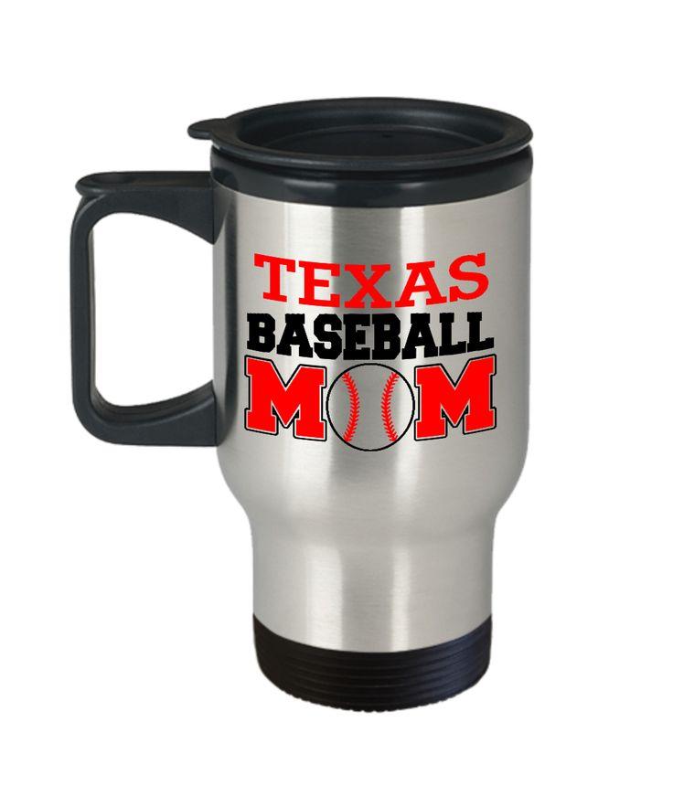 Texas Baseball Mom Baseball Fanatics Mom special Travel mugs sports lovers - Travel Mug Travel Coffee Mugs Tea Cups 14 OZ Gift Ideas