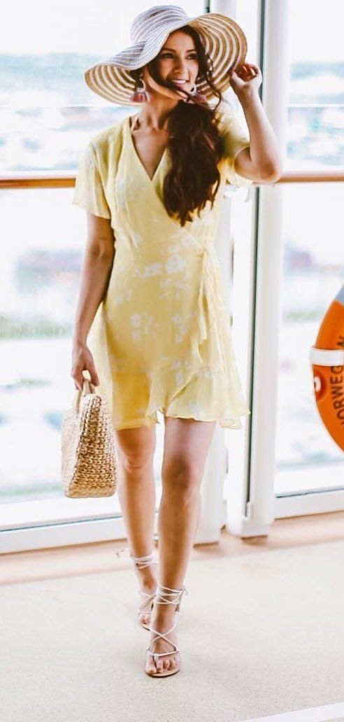 yellow minidress #spring #outfits