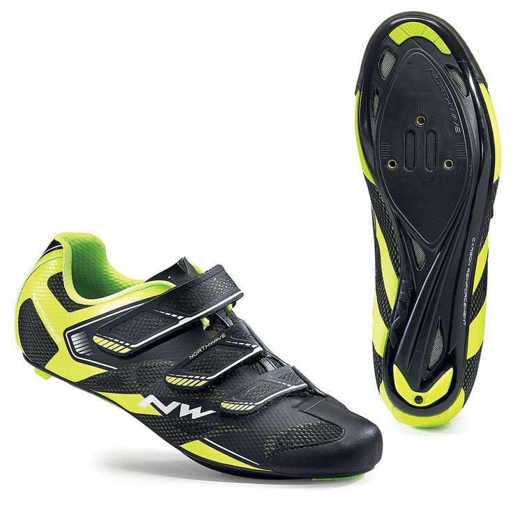 Northwave Sonic 2 Road Shoes - Black-Yellow Fluo