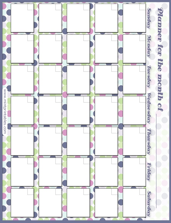 Cute Blank Monthly Calendar : Best blank calendar pages ideas on pinterest