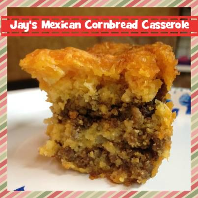 If you like Mexican food, cornbread, and a good casserole, then you need to make a batch of Jay's Mexican Cornbread Casserole. It's a fast fix to please.