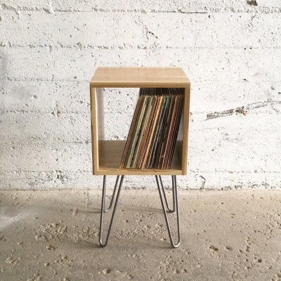 GROGG Vinyl Unit   Hairpin Legs Record Player Stand & Vinyl Shelf