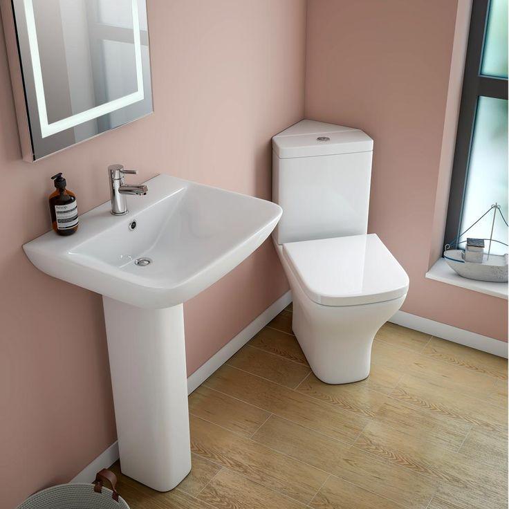Venice Modern Corner Toilet Soft Close Seat Very Small Bathroomdownstairs