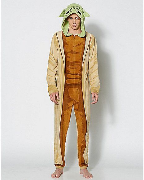 e440b921cc25 Adult Hooded Yoda Pajama Costume - Star Wars - Spencer s