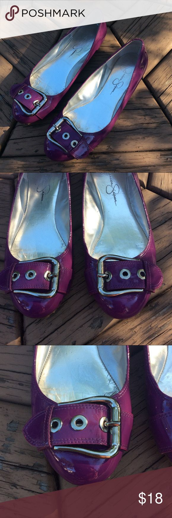 Jessica Simpson Purple Ballet Flats- Size 9 Jessica Simpson purple ballet flats- size 9 | Run slightly small | Inside of shoes are showing some wear | The soles are in good condition, and the only damage on the outside is a small mark that could easily be removed Jessica Simpson Shoes Flats & Loafers