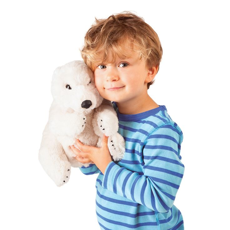 Sitting Polar Bear Puppet by Folkmanis Puppets