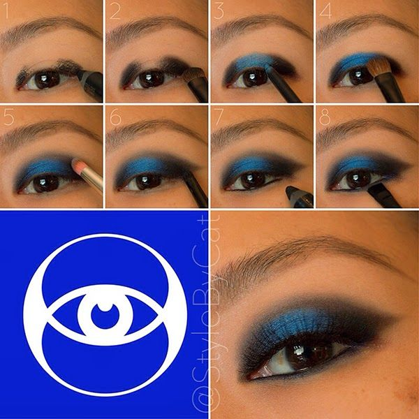 Divergent Makeup Series: Erudite. Smokey eye with a pop of blue shadow. Urban Decay and Sugarpill. Makeup tutorial.