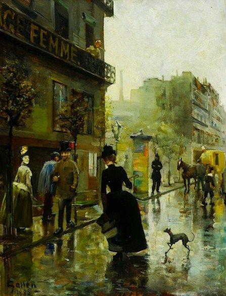 Parisian Boulevard, 1885 - Akseli Gallen-Kallela